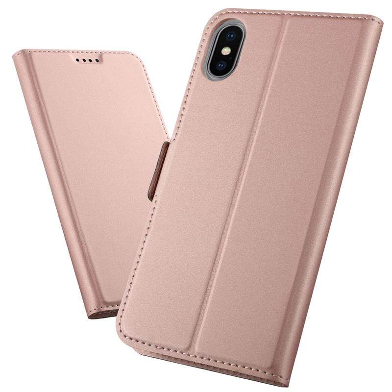 Moonmini Case for iPhone Xs Max Case PU Leather Flip Stand Wallet Case Full Body Protective