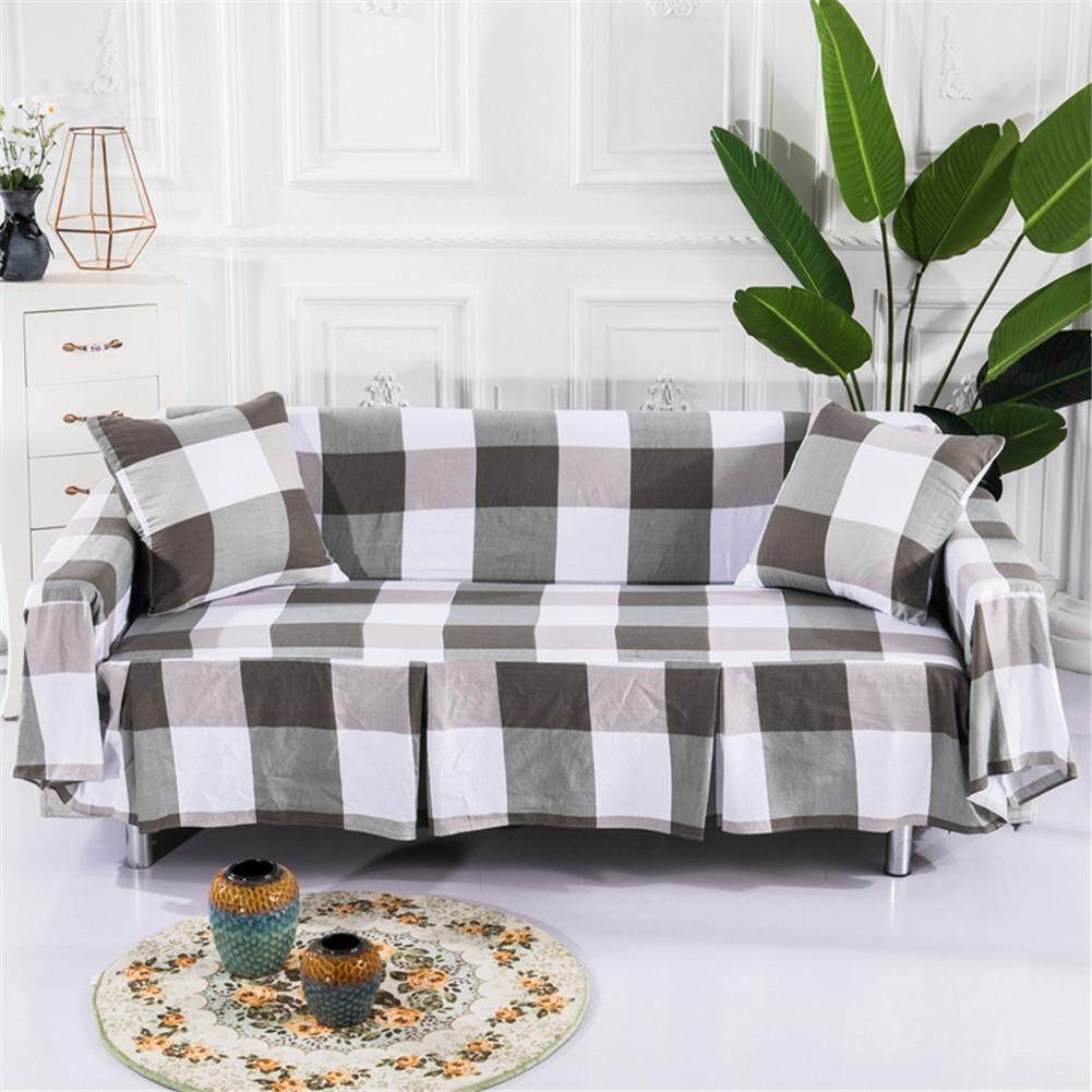 Cotton blend slipcover sofa cover protector for 1 2 3 seater couch covers