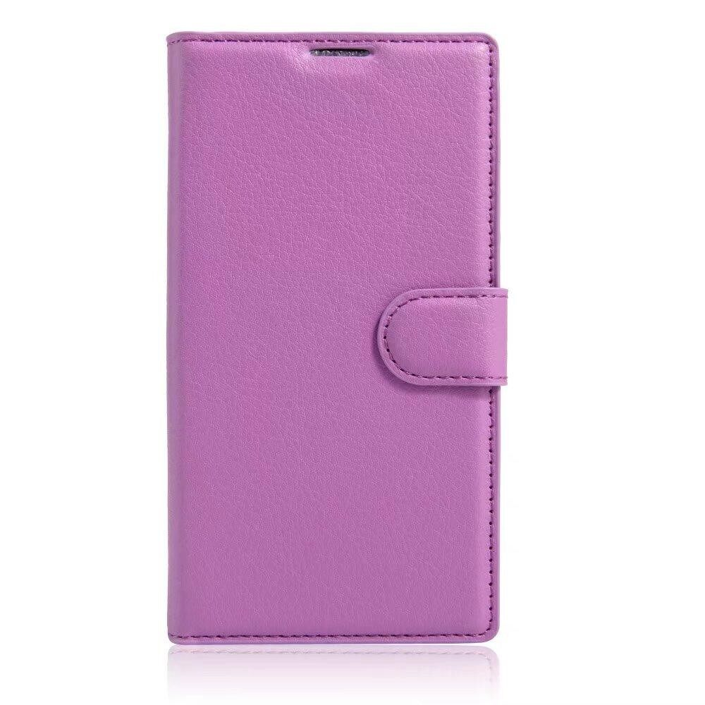 Leather Flip Cover Wallet Card Holder Case For Alcatel POP C1 / OT4015 - intl