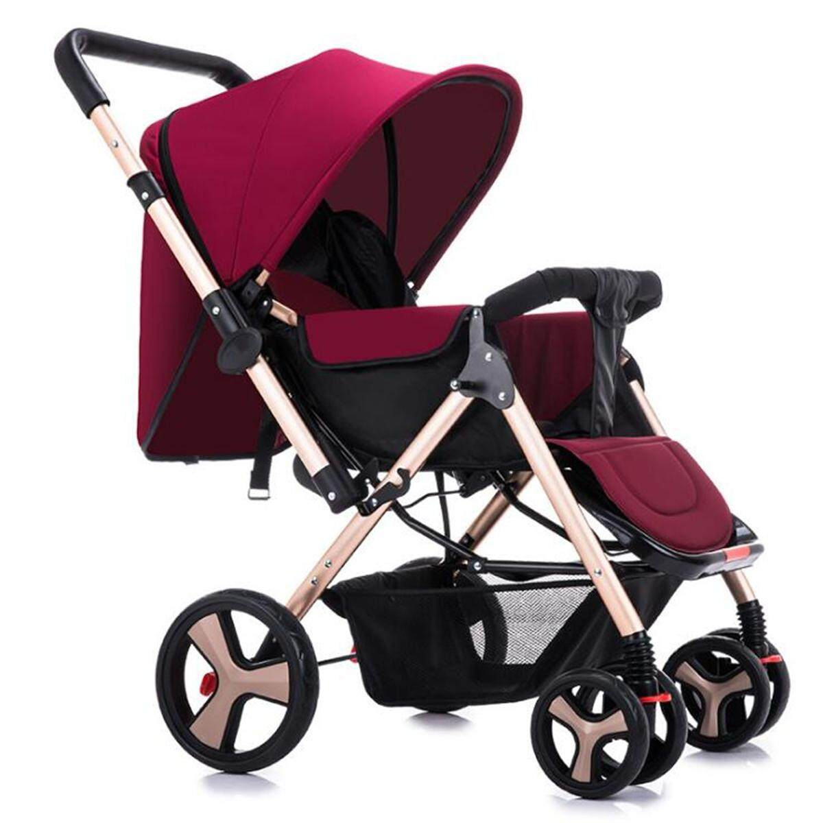 Foldable Baby Stroller Carriage Infant Cart Pushchair Sitting Lying Outdoor Tool