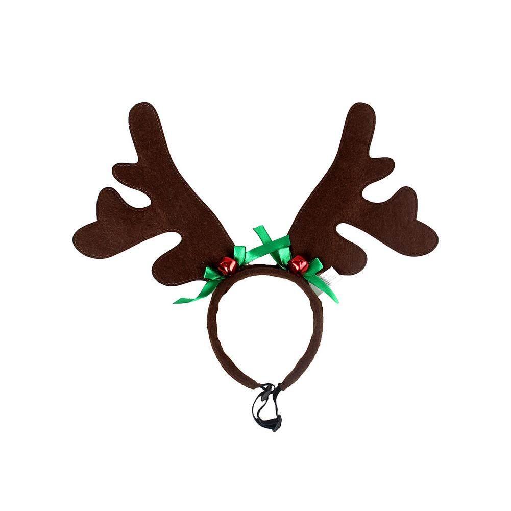 Star Mall Cute Christmas Pet Headband Deer Horn Hat Headgear Costume Dog Puppy Cat Cosplay Party