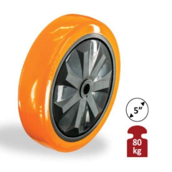 MR CASTOR HEAVY DUTY PU WHEEL ONLY ( 1 YEAR WARRANTY)