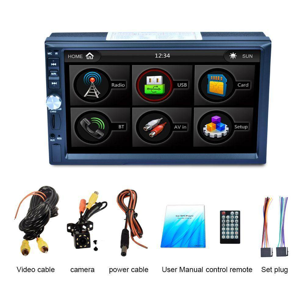 Orzbuy Double Din Touch Screen Car Stereo With Bluetooth 7 Inch Car Radio Receiver Mp5 Mp4 Mp3 Player Support Fm Radio Usb And Sdcard With Remote