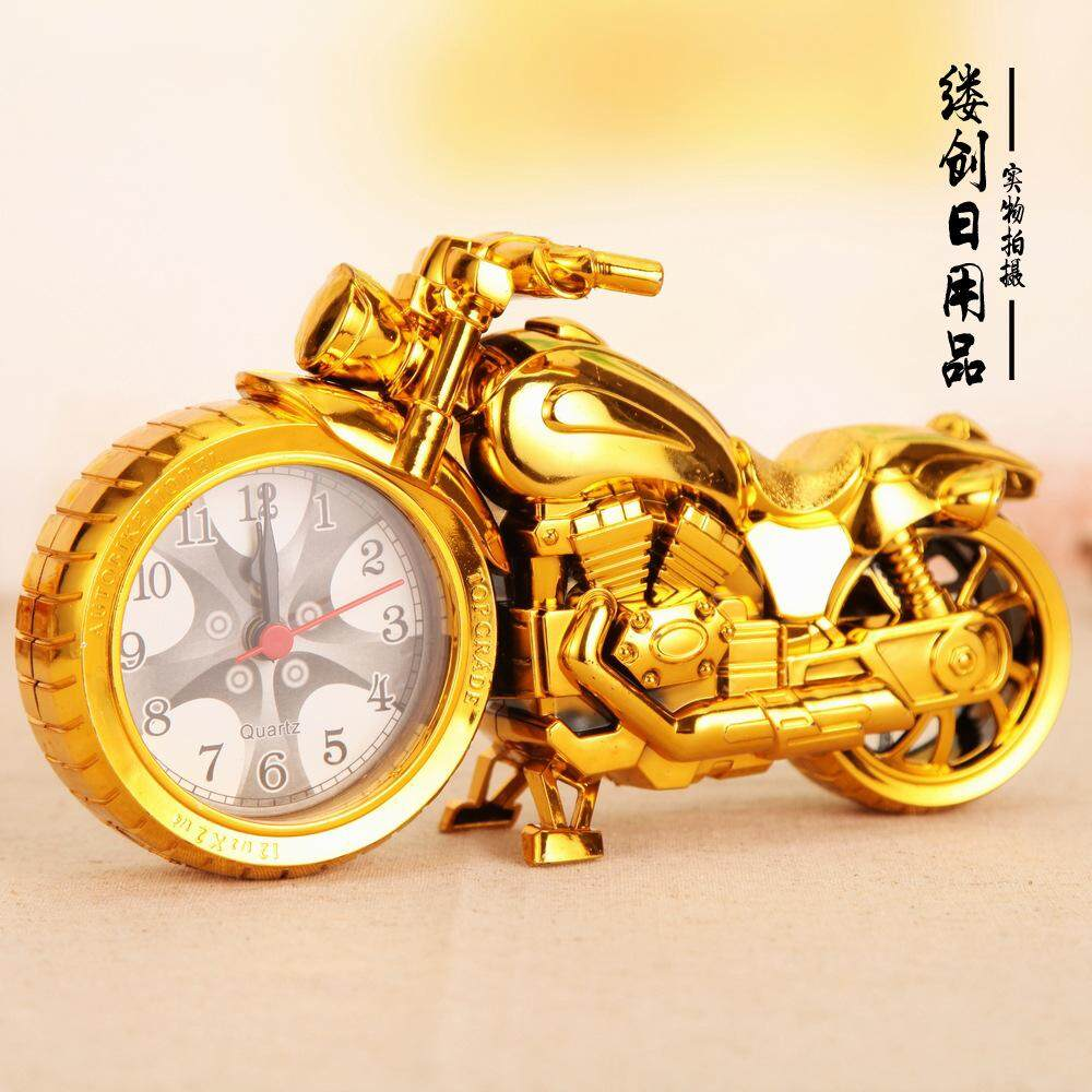 Unique Motorcycle Model Alarm Clock Creative Clock Retro Antique Alarm Clock - intl
