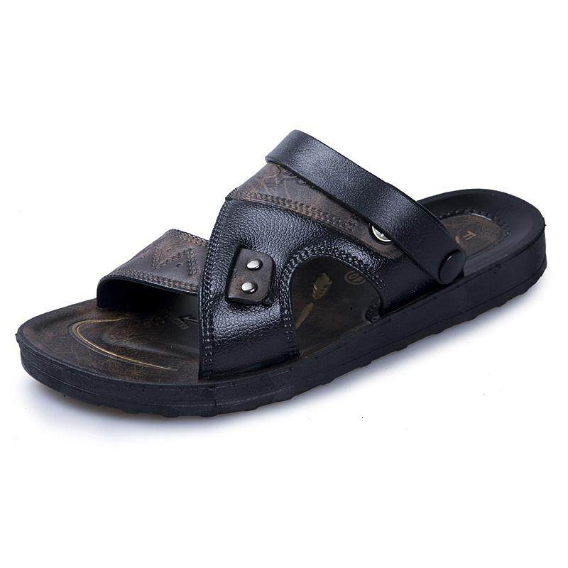 bbf4b54e8a  READY STOCK Fashion Leather Sandals for Men Breathable Men s Beach Shoes  Casual Shoes Outdoor