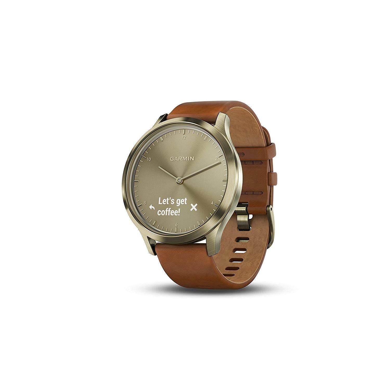 พระนครศรีอยุธยา Garmin Vívomove HR Premium นาฬิกาสมาร์ตวอตช์ไฮบริด GOLD