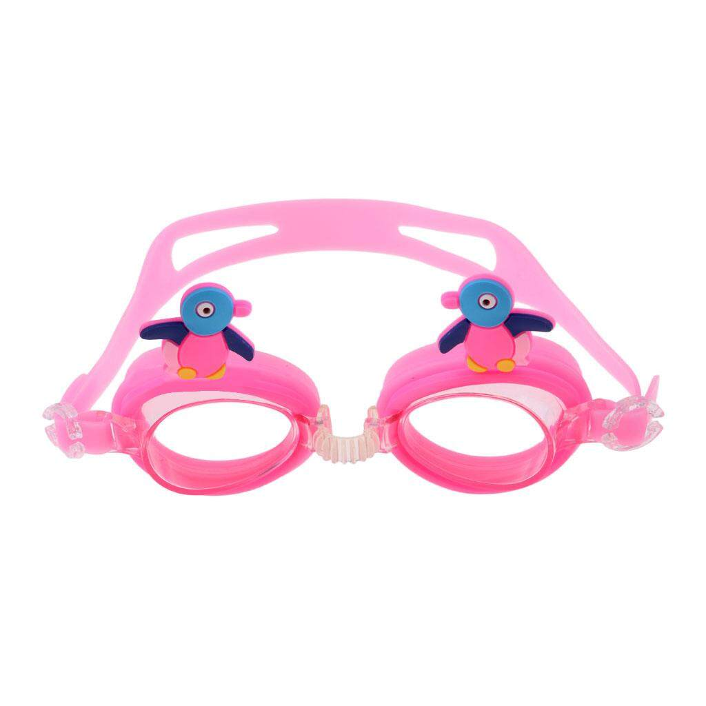 444603d8b7 Flameer Cartoon Kids Goggles Anti Fog UV Protection Swim Glasses Pink  Penguin