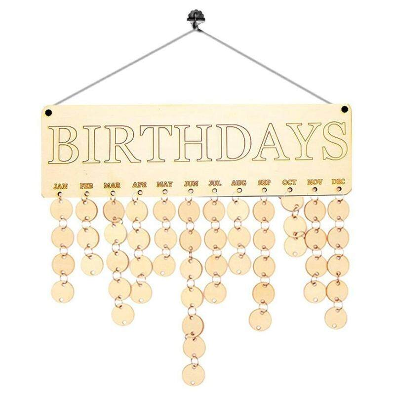 Mua Calendar Board,Wood Birthday Reminder Board Birch Ply Plaque Sign Family &Friends DIY Calendar By Dacawin (B) - intl