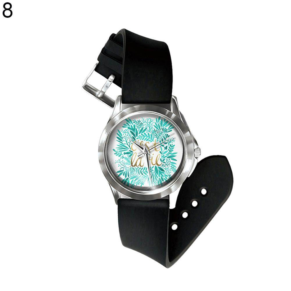 Sanwood® Vintage Flower Leaf Letter Print Dial Analog Display Quartz Unisex Wrist Watch (8#) Malaysia