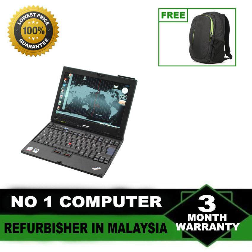 REFURBISHED LENOVO THINKPAD X200, ORIGINAL WIN 7 PRO   INTEL CORE 2 DUO   2 GB RAM  160 GB HDD  INTEL GRAPHIC VIDEO  12.5 INCH Malaysia