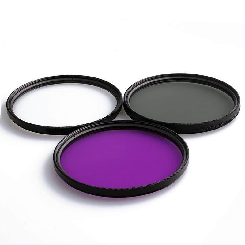 Doxiy Lensa UV + CPL Lensa + FLD Lensa 3 In 1 Filter Lensa Set dengan Tas untuk Cannon Nikon Sony Kamera Pentax lensa