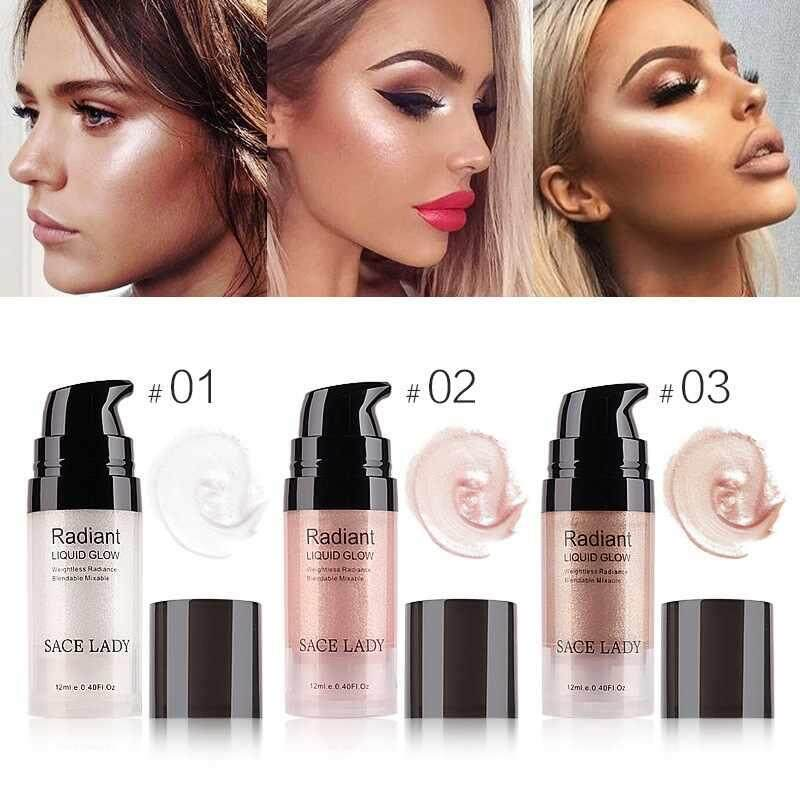 【Dongxi】2018 The New Excellent Quality Face Highlighter Cream Liquid Illuminator Makeup Shimmer Glow Kit Make Up Facial Brighten Shine Brand Cosmetic - intl Philippines