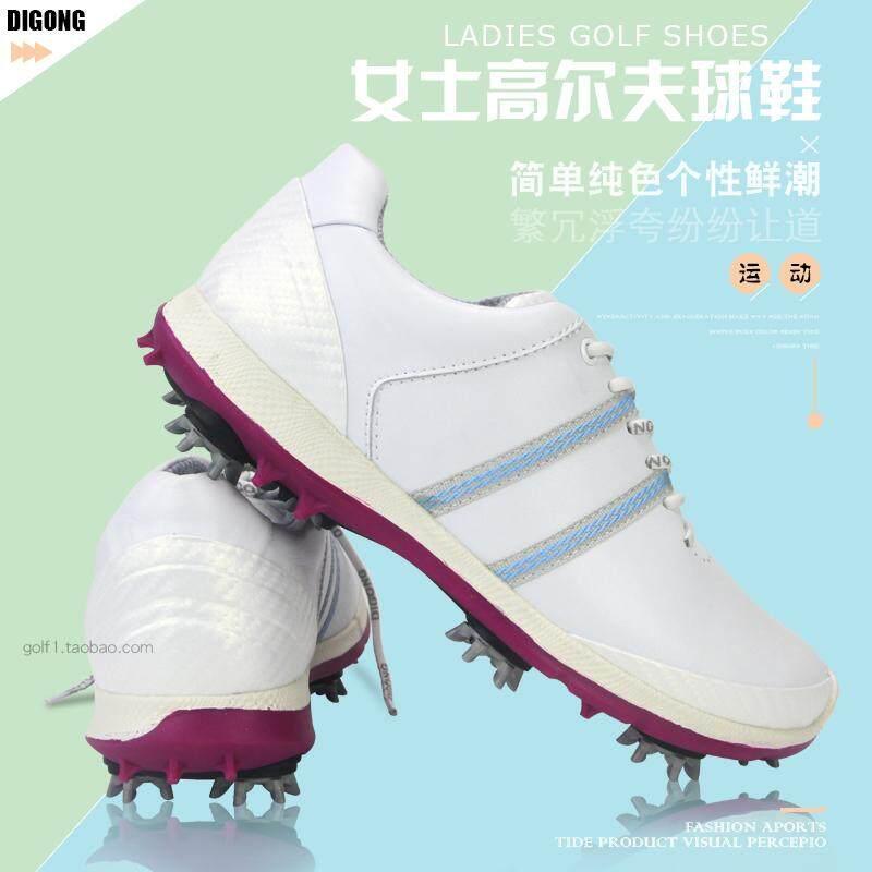 Wanita Sepatu Golf Nyaman dan Menyerap Keringat Dilepas Aktivitas Kuku  Kulit Microfiber Olahraga Model ac955fc657