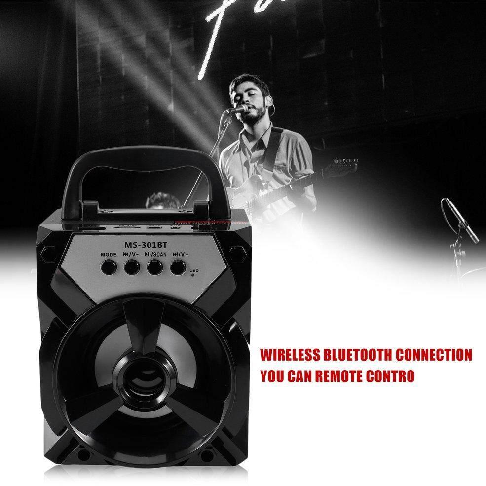 Detail Gambar QNSTAR MS-301BT Luar Portable Bluetooth Speaker Multimedia Mobile Loudspeaker Hitam Terbaru