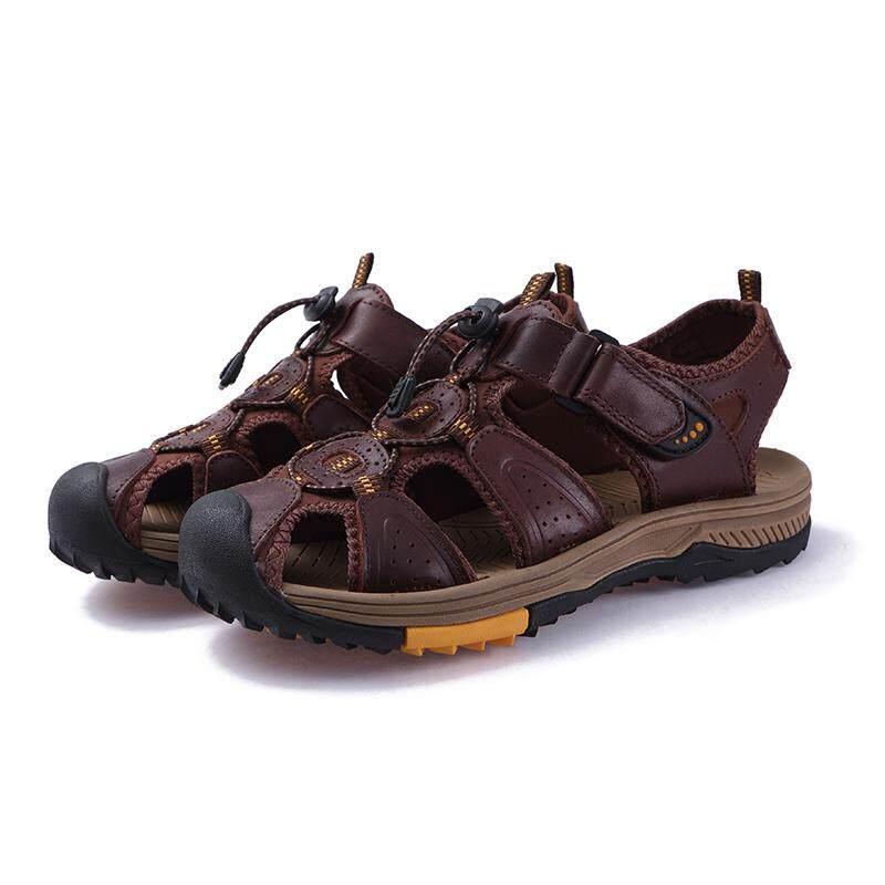 Detail Gambar ZNPNXN Men's Sandals Men's Outdoor Mountaineering Sandals Beach Sandals Fashion Casual Sandals Size 38-45 Terbaru