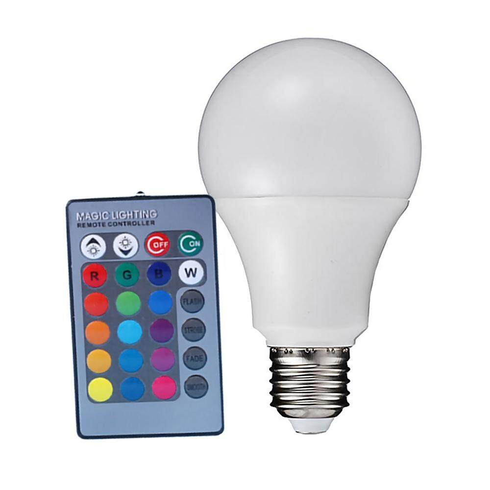 Sunyoo-4 Modes Multi Colors Changing LED RGB SD E27 Light Bulb + 24-keys Remote Control - intl
