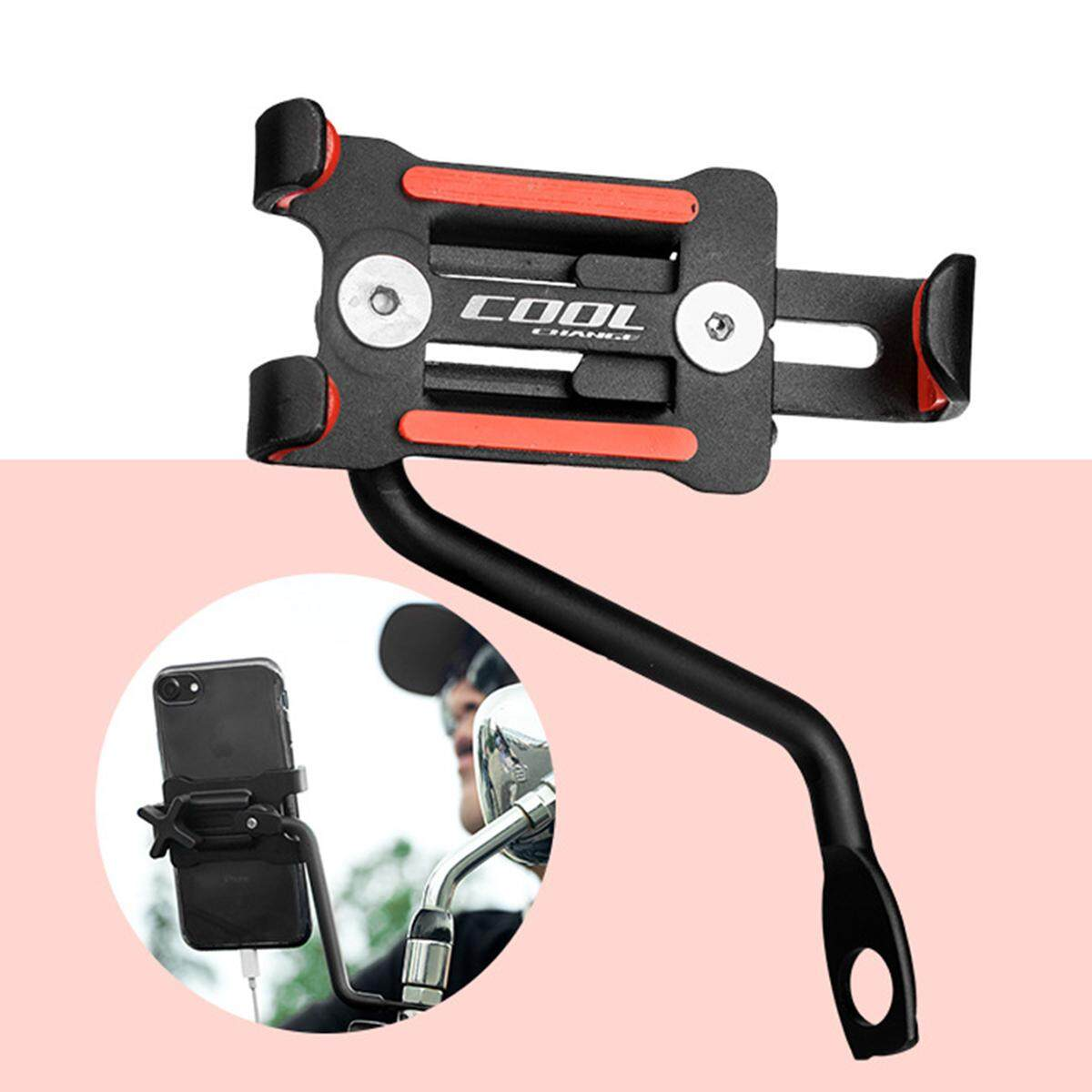 【free Shipping + Flash Deal】universal Full Aluminum Motorcycle Rear View Mirror Phone Holder Mount Stand By Nimbler.