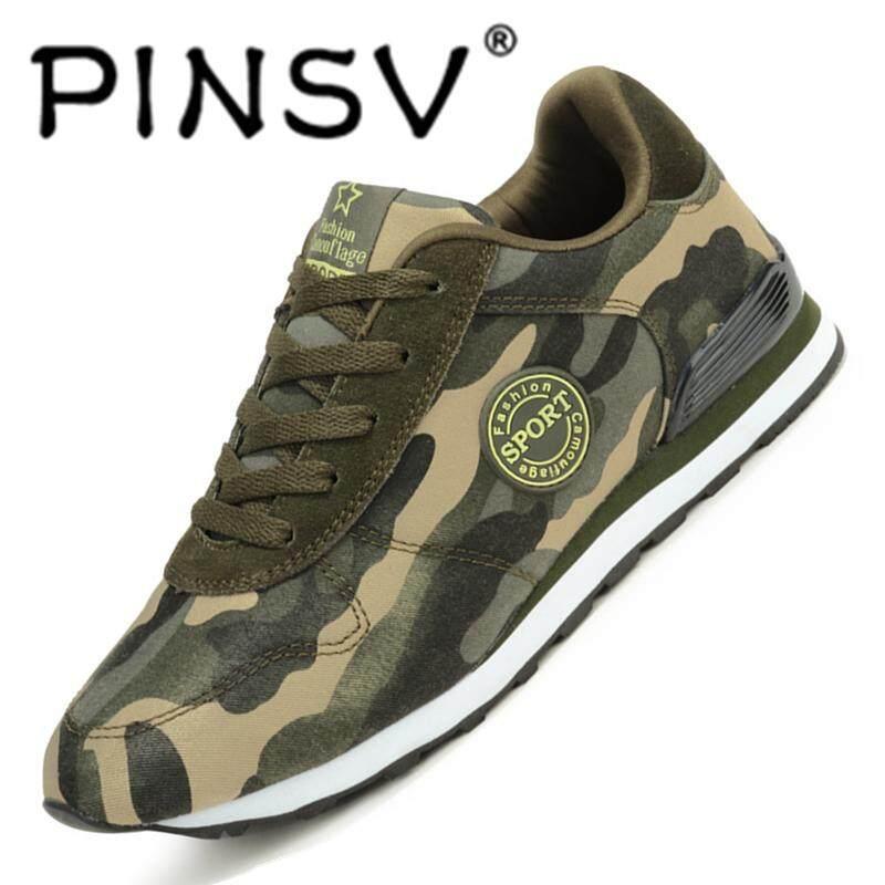 Pinsv Sepatu Fashion Sederhana dan Nyaman Couple's Kamuflase Sepatu Olahraga Sejuk Sol Penyerap Goncangan Tidak Sandal