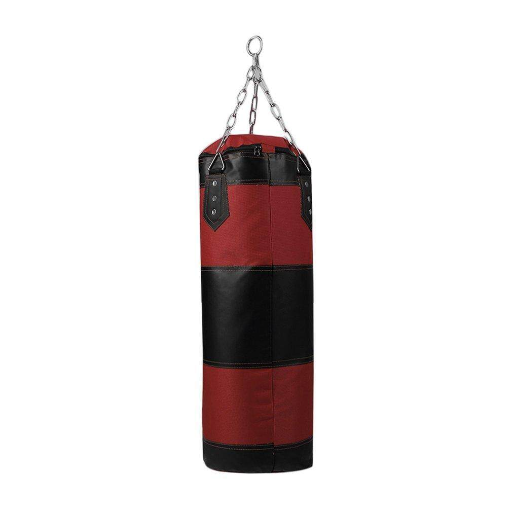 LALOVE 70cm Boxing Empty Punching Sand Bag with Chain Training Practice Martial red&black