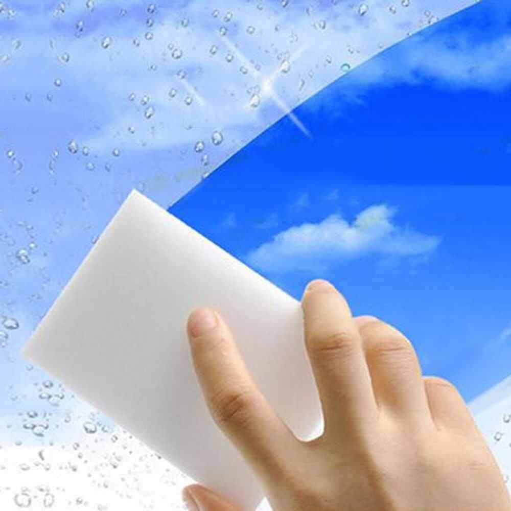 WULI 100PCS Magic Sponge Eraser Cleaning Melamine Multi-use Foam Cleaner White .