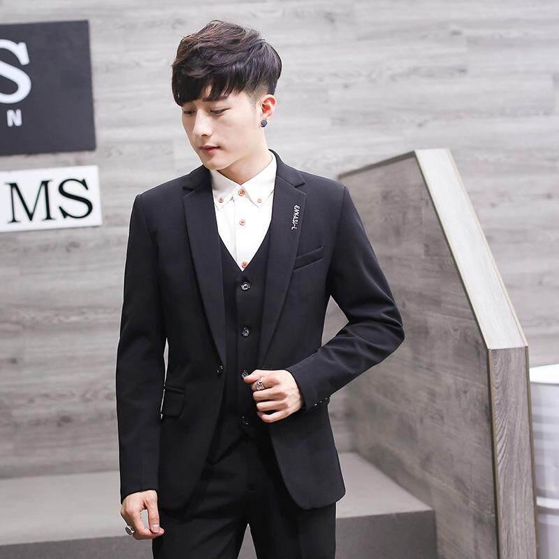 4ae128d908e  Free Shipping Formal Suit Men Suit+trouser+vest Three Piece Suit Non