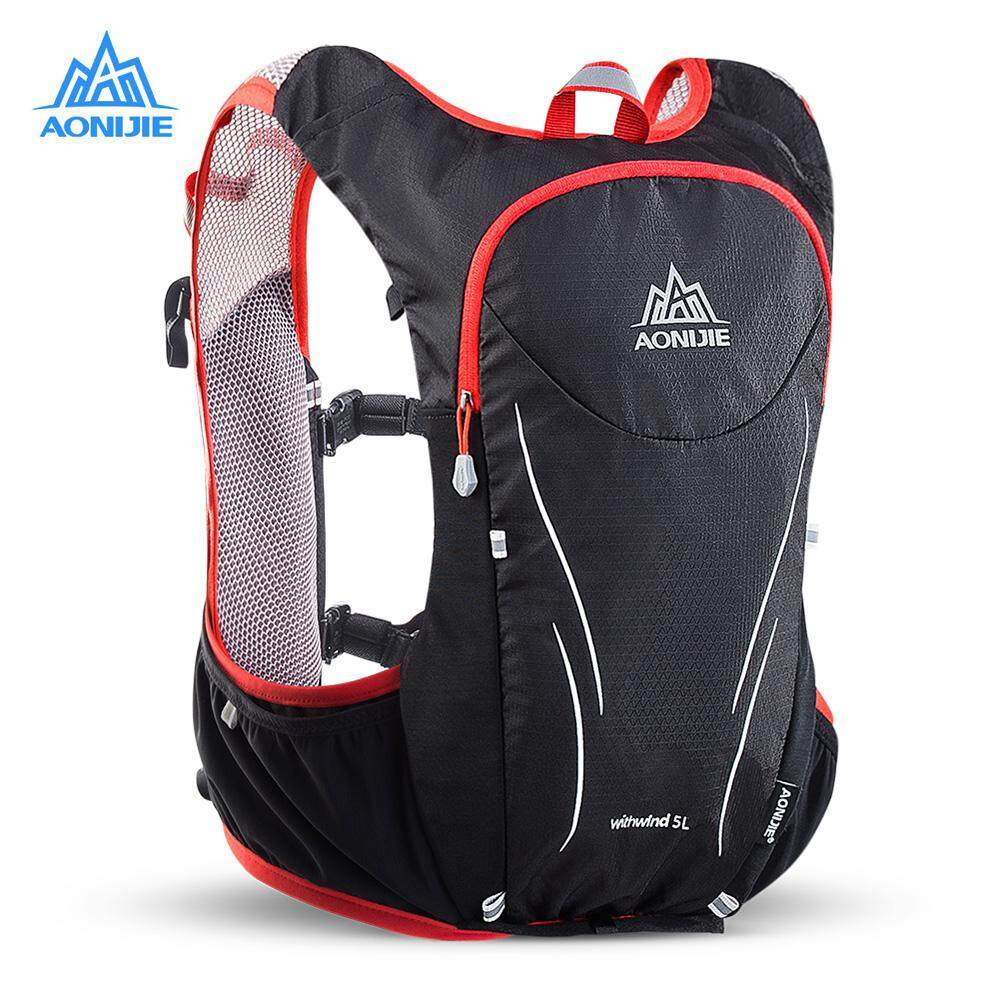 4037d7c85a11 AONIJIE Men Women 5L Lightweight Trail Running Backpack Outdoor Sports  Hiking Racing Bag With 1.5L