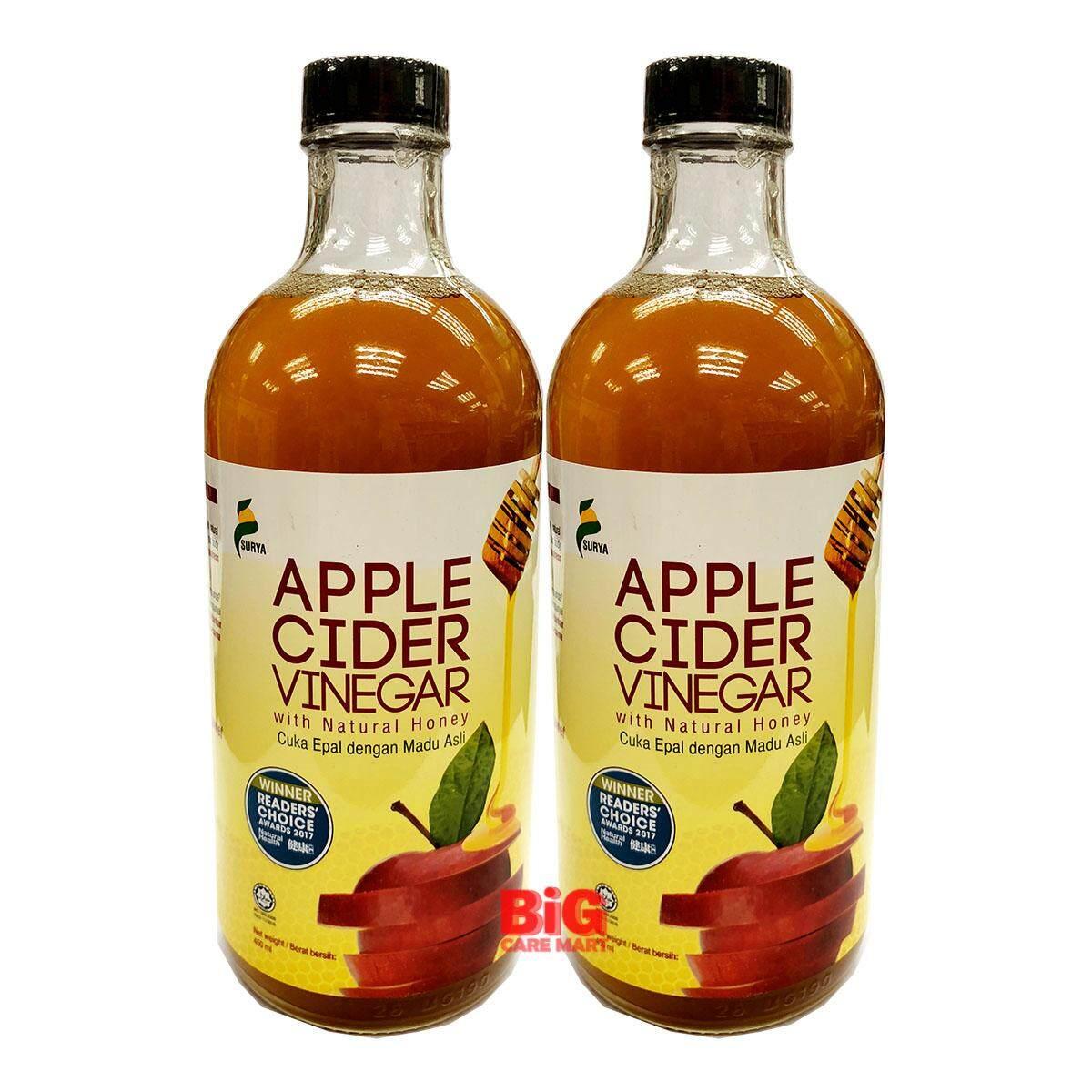 Surya Apple Cider Vinegar with Natural Honey 450ml [Halal] X 2bottles