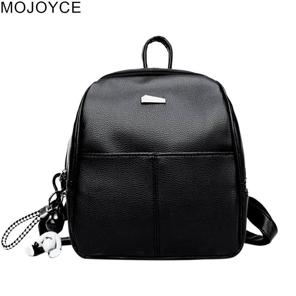 MOJOYCE Women PU Leather Backpacks Teenage Girls Zipper Travel School Shoulder Bags - intl