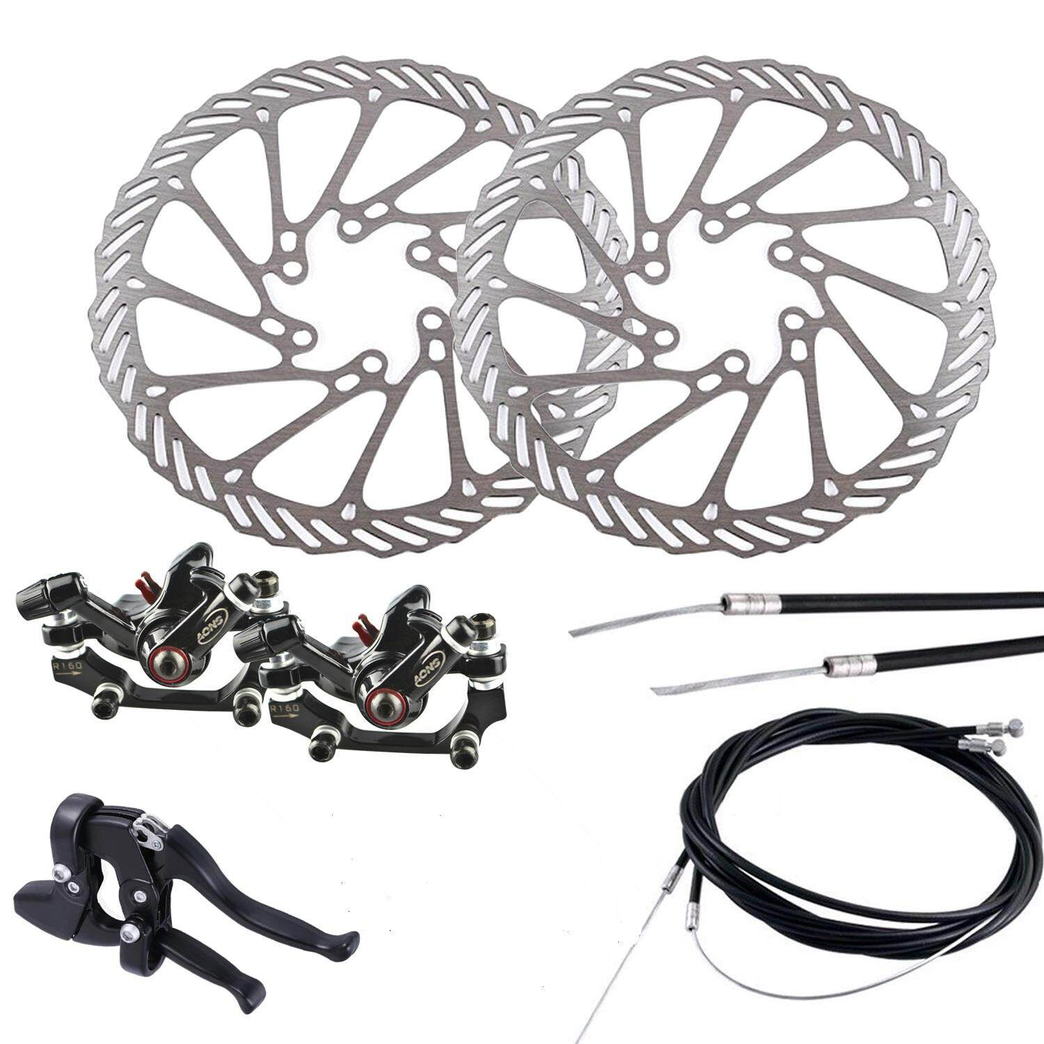 Features 2pcs Bike Bicycle Cycling Clean Sweep Disc Brake Rotors Rotor 160 Mm Avid G3cs Bb5 Mountain Mechanical Front Rear Set With G3 160mm