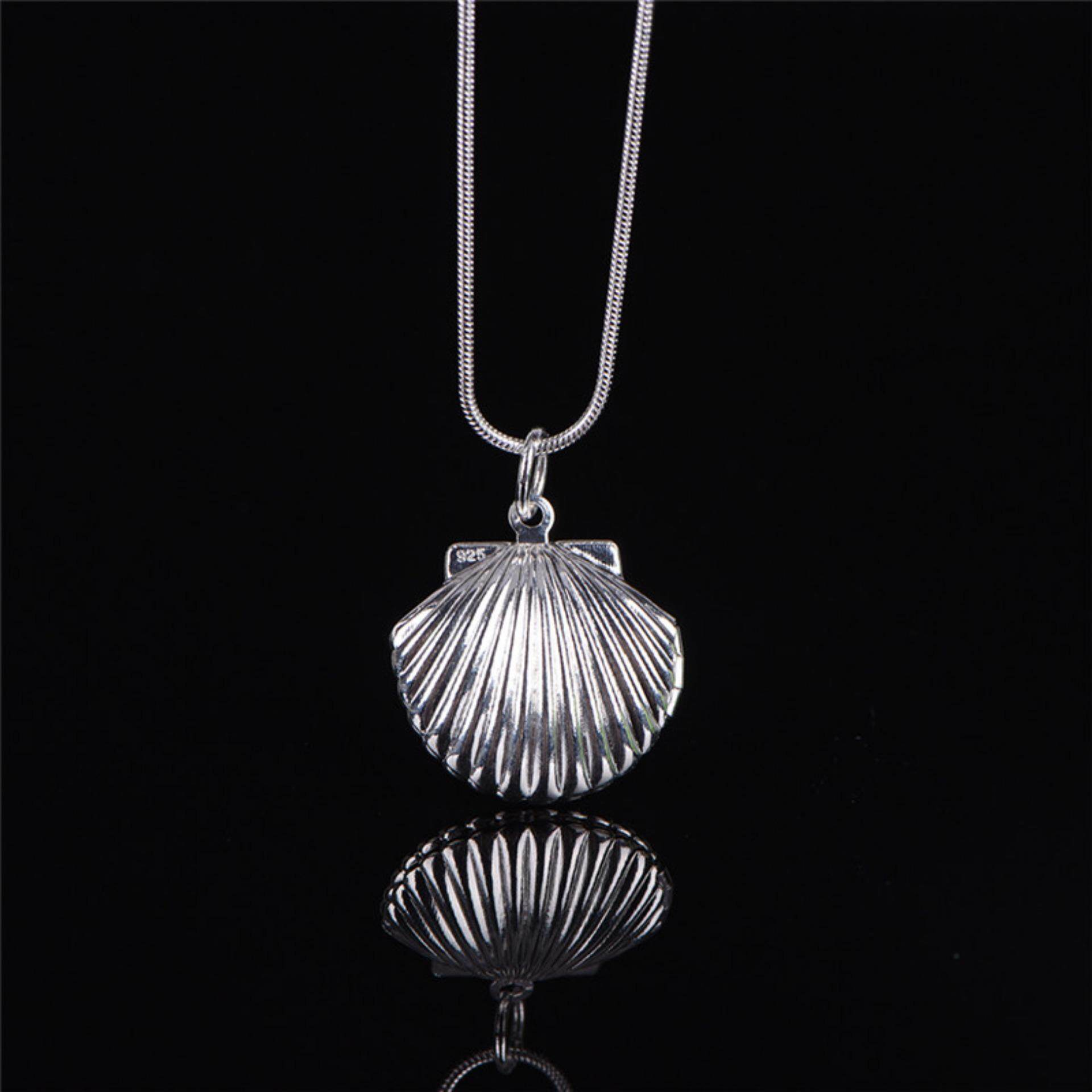 Women Silver Picture Locket Hollow Heart Photo Pendant Chain Necklace Openable Shell - intl