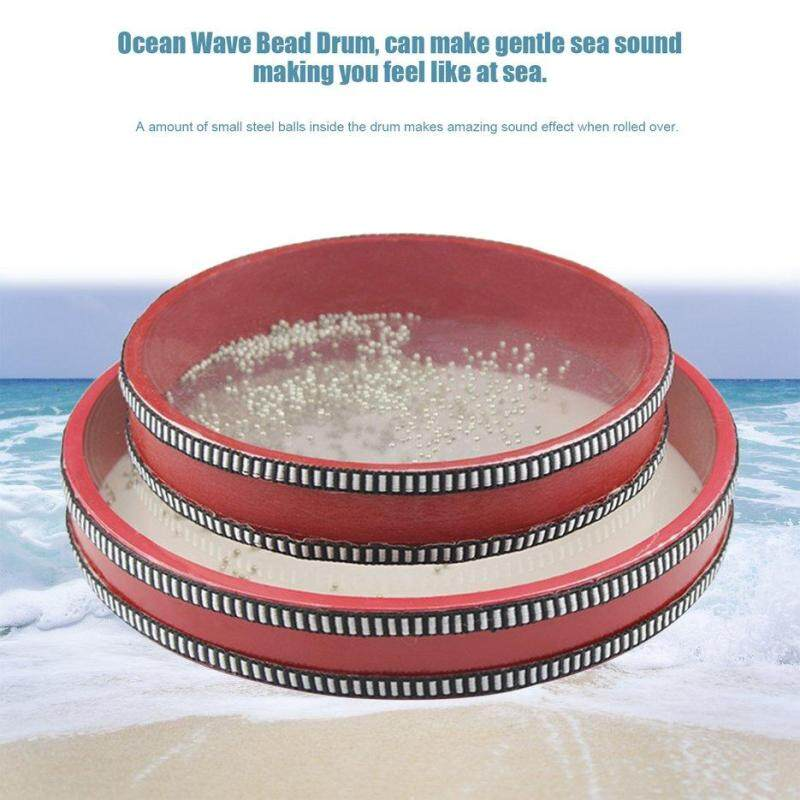 BELLE Ocean Wave Bead Drum Sea Sound Toys for Kid Early Learning Tools 20cm/25cm red