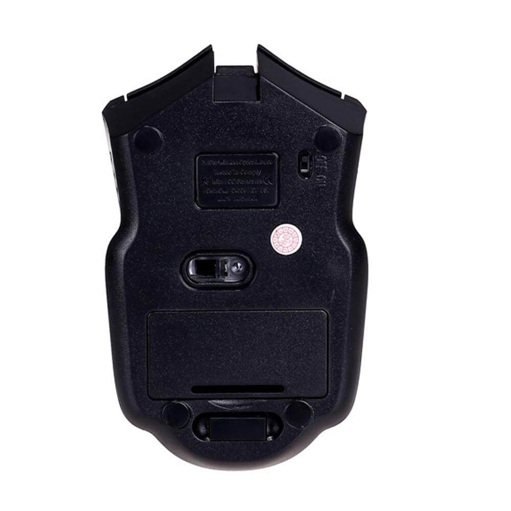 ... Malloryshop 2.4 GHz Mice Mouse Optik USB Tanpa Kabel Receiver Komputer PC Nirkabel untuk Laptop ...