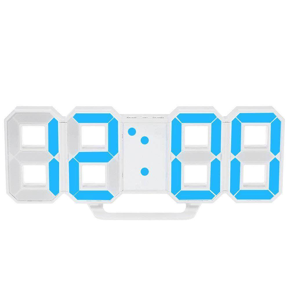 Multifunctional LED Clock Large LED Digital Wall Clock 12H / 24H Time Display with Alarm and Snooze Function Luminance Adjustable Free Shipping