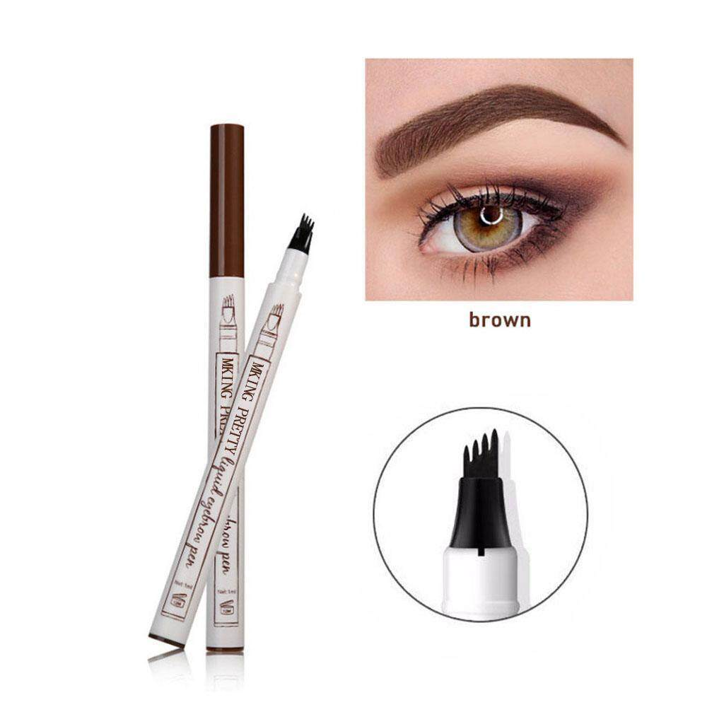 GoodGreat Eyebrow Pencil, Waterproof 4-Tip Eyebrow Tattoo Pen, Smudge-proof, Long-lasting Waterproof Brow Gel For Eyes Makeup (Chestnut) Philippines
