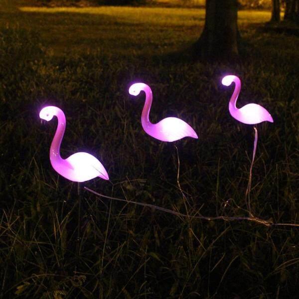 Big House 3 Đèn LED Năng Lượng Mặt Trời Đèn Chiếu Sân Vườn Flamingo Đèn Thảm Cỏ Đèn Chiếu Đêm Chống Nước Cho Trang Trí Vườn Ngoài Trời