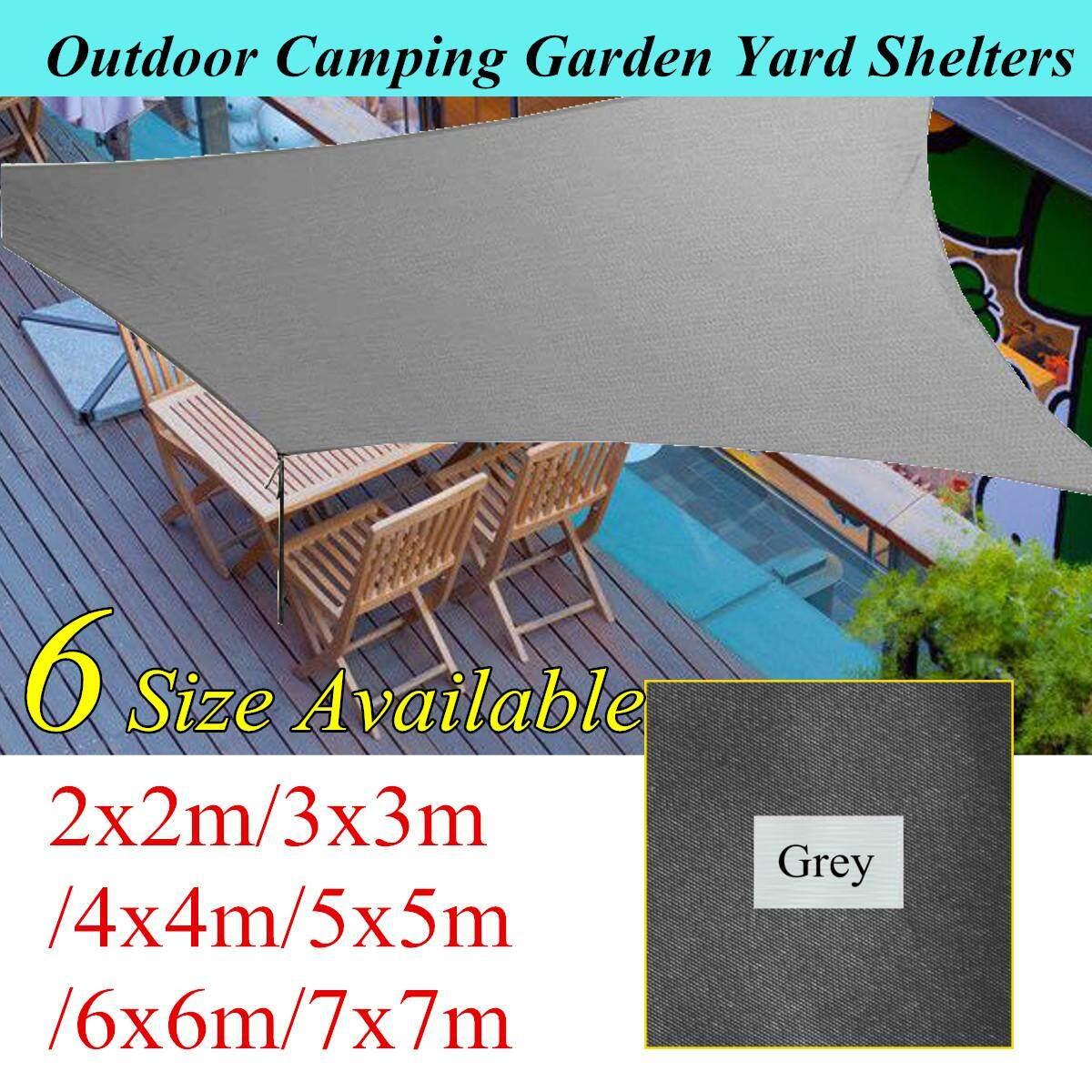 Extra Heavy Duty Shade Sail Grey Gray Sun Outdoor Triangle Square Rectangle # 5*5m
