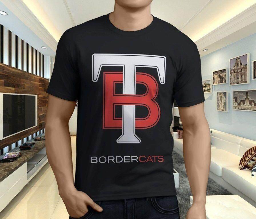 Thunder Bay Border Kucing Katun Pria Kaus O Leher Kaus Pria Lengan Pendek Kaus-Internasional