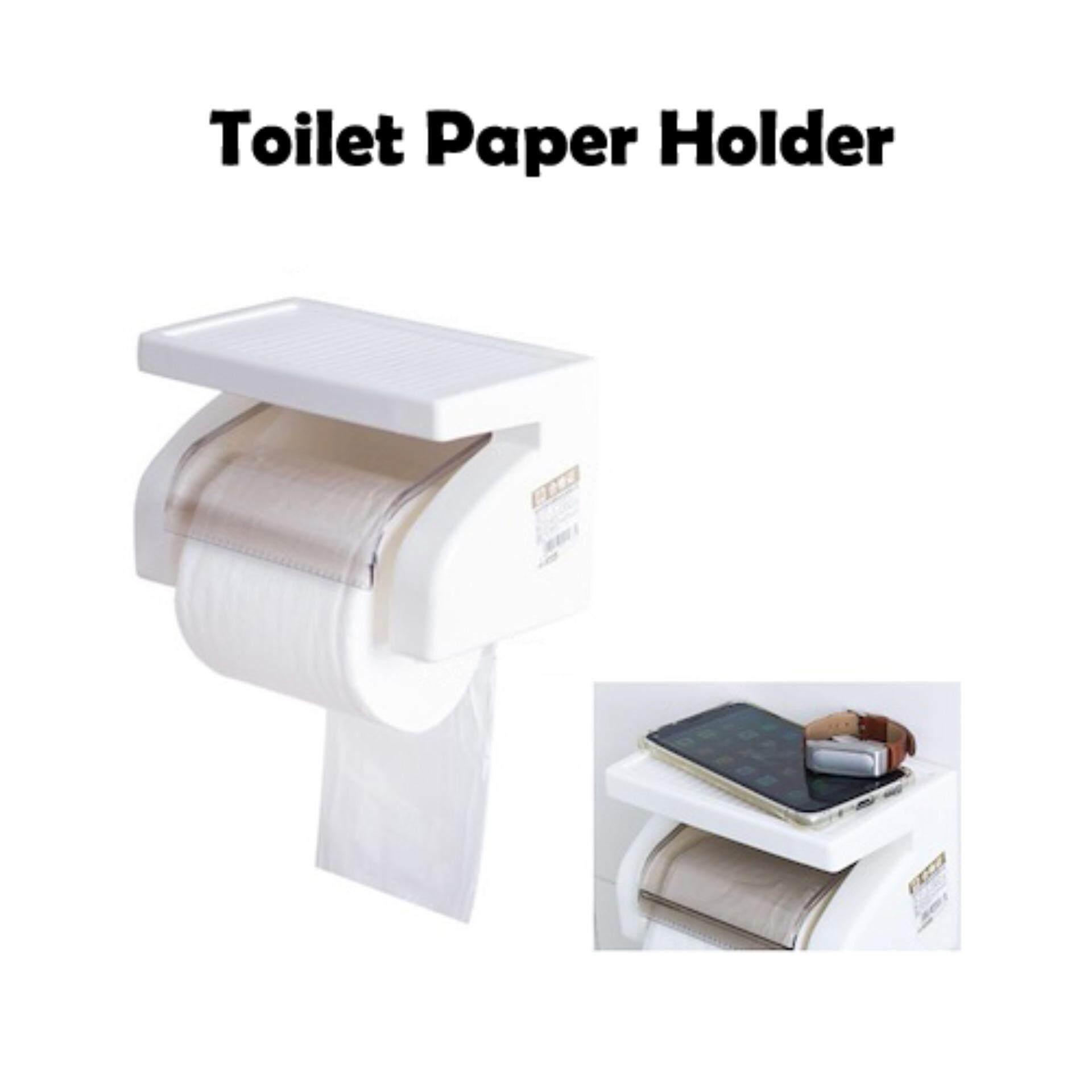 Wall Mounted Plastic Waterproof Toilet Roll Paper Box Holder Bathroom Tool