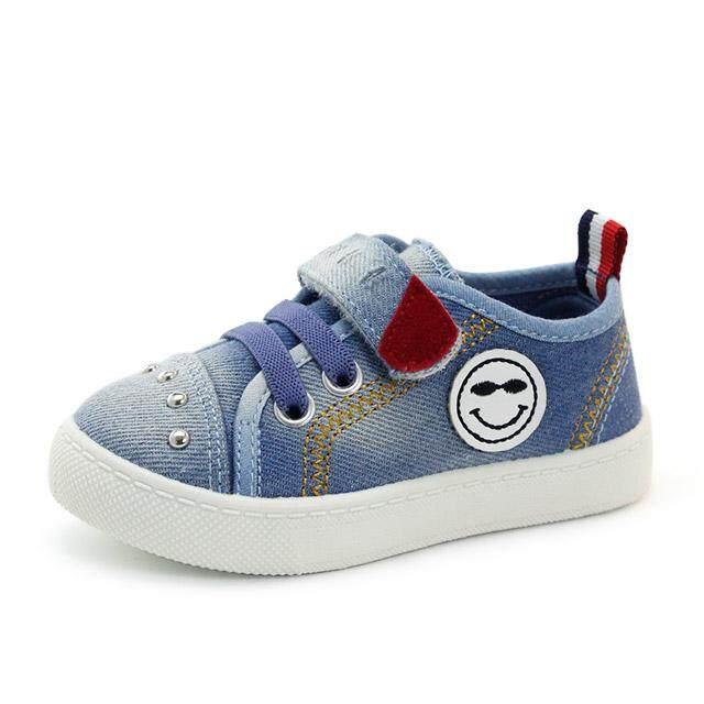 GD anak-anak Sepatu kanvas pasang ayat 2 tahun Petpet Kain jeans netral bernapas Anti Selip Sepatu anak Gaya Korea 1-3 tahun B512