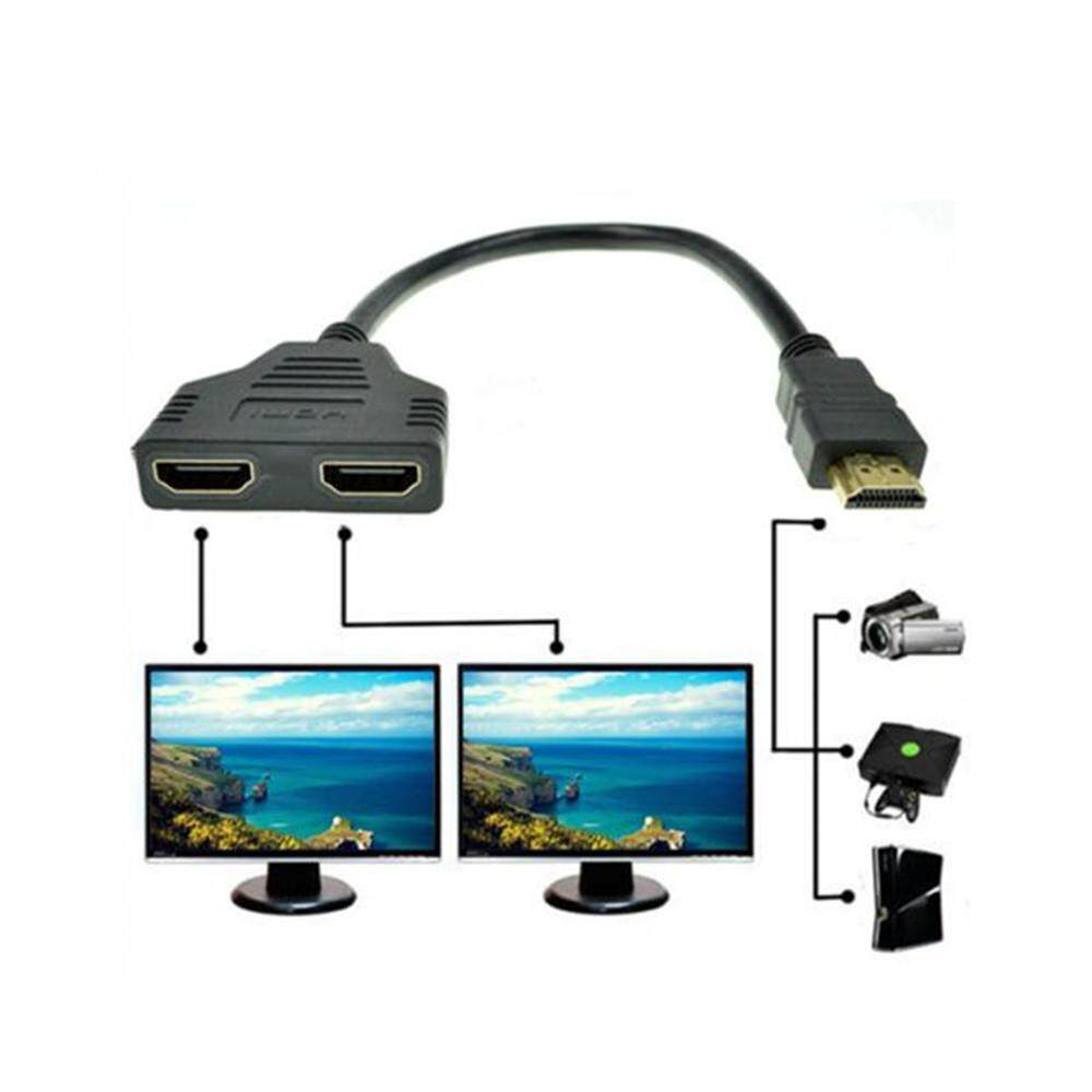 Bigskyie  1080P HDMI Port Male to 2 Female 1 In 2 Out Splitter Cable Adapter Converter Malaysia