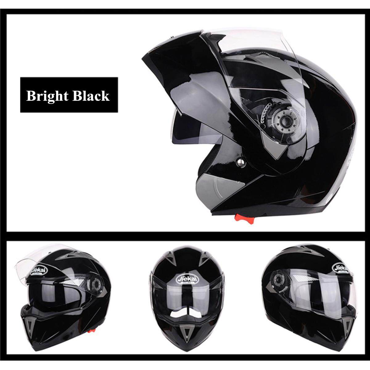 4 Colors Motorcycle Full Face Dual Visor Flip Up Modular Helmet Motocross for XL