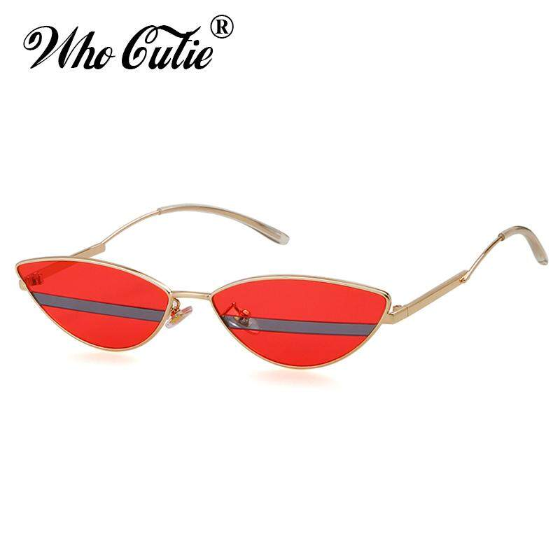 7aa9e7fc133 2018 Unique Cat Eye Sunglasses Men Women Brand Designer High Quality 90s Retro  Vintage Tiny Slim