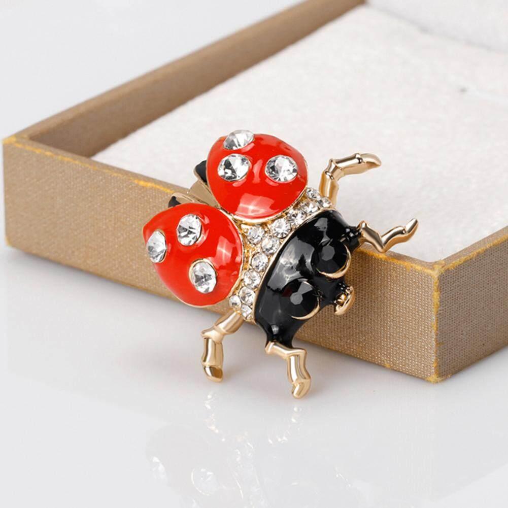 Mini Natal Kartun Serangga Berlian Imitasi Warna-warni Pin Bros Hadiah Perhiasan .