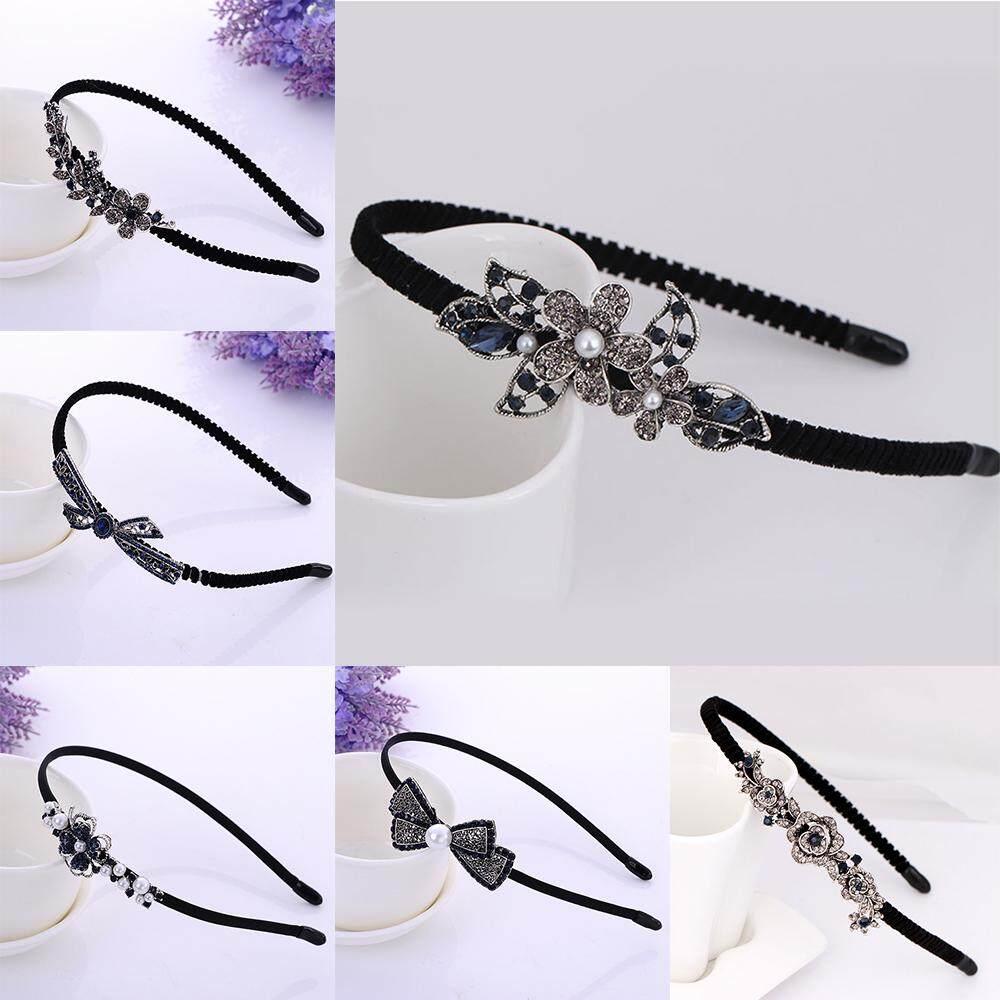 Detail Gambar Fang Fang Wanita Cute Fashion Berlian Imitasi Busur Berlian Bando Rambut Aksesoris Perhiasan Terbaru