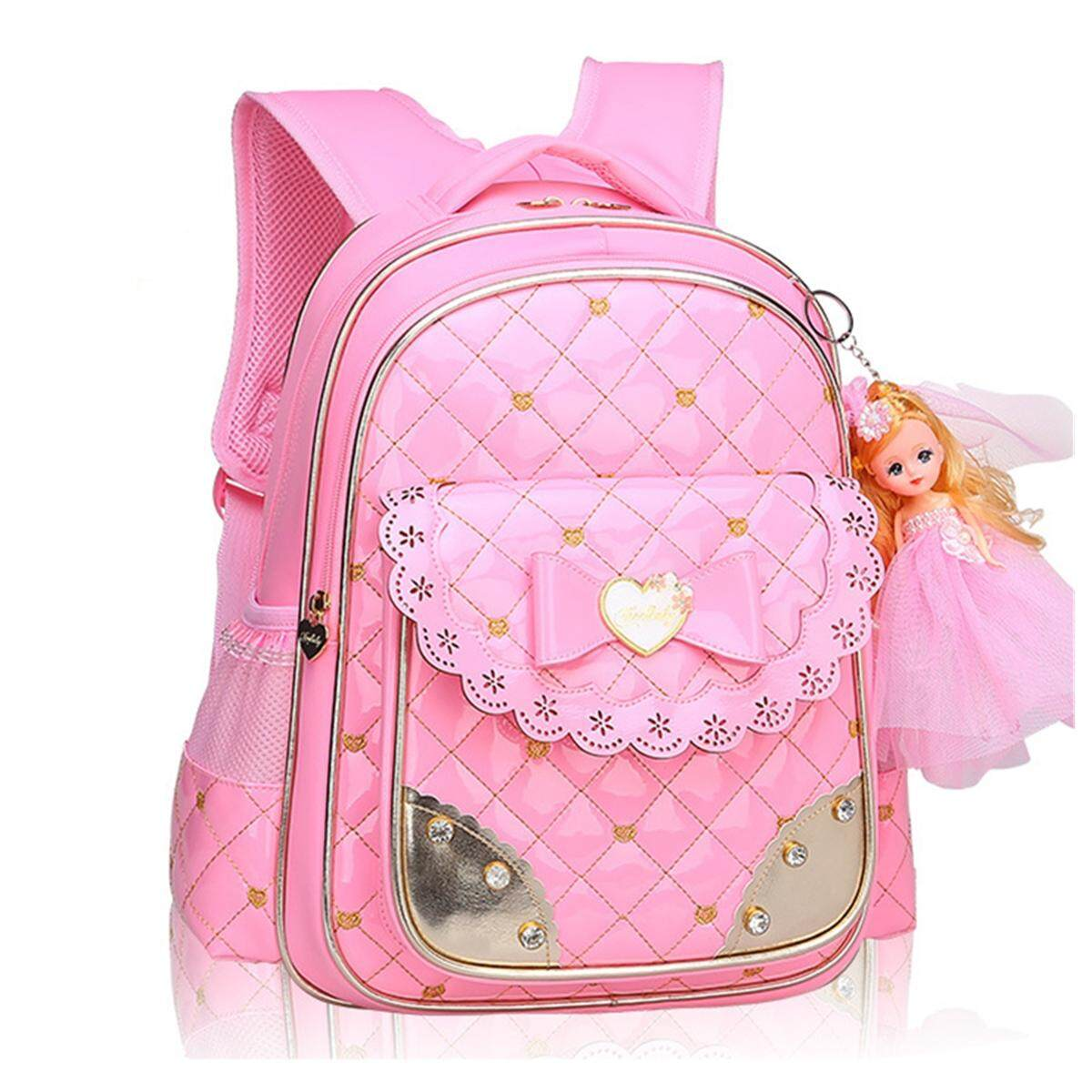 76b820e51 Children Leather School Backpack Bag Primary Girls Students Travel Rucksack  Doll Small Size By Glimmer.