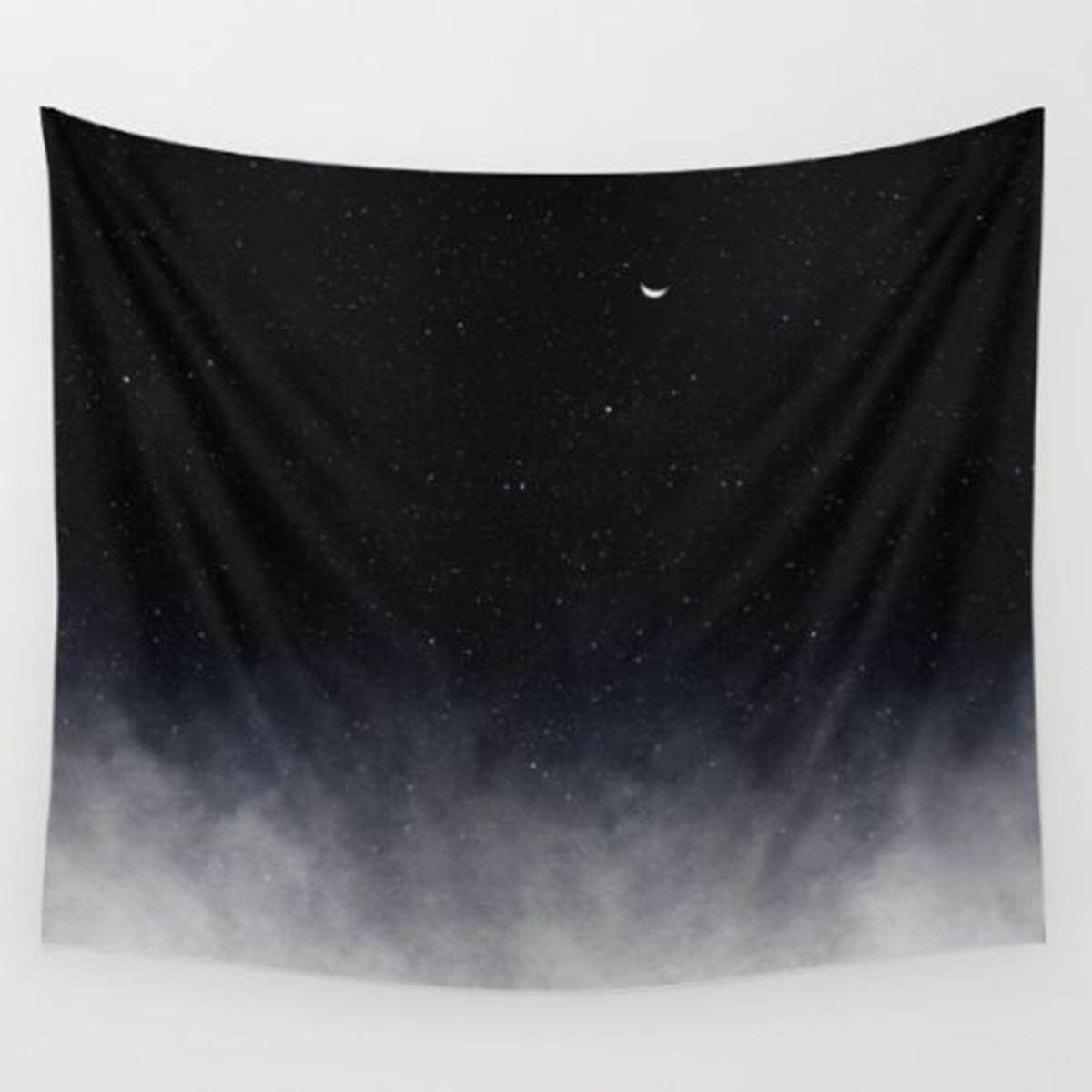 Black Galaxy Mandala Tapestry Wall Hanging Throw Dorm Beach Bedspread Mat Decor