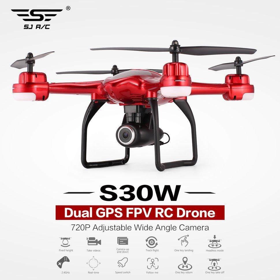 SJ R/C S30W 720P / 1080P Adjustable berbagai sudut kamera ganda GPS FPV RC