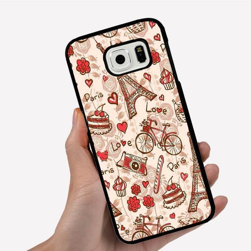 Ponsel Casing untuk HTC Terbaik 626 dengan Kamera Sepeda Menara Eiffel Gambar Kartun Pola Plastik Anti-Knock Telepon Case Cover