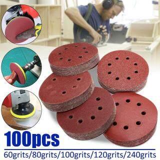 Đĩa Chà Nhám Vòng Móc 100X5 Tấm Mài Quỹ Đạo 60 80 100 120 240Grit, 125MM thumbnail