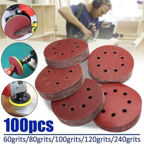 Đĩa Chà Nhám Vòng Móc 100X5 Tấm Mài Quỹ Đạo 60/80/100/120/240Grit, 125MM